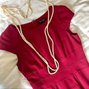 {WHBM} Red Sheath (Pencil) Dress